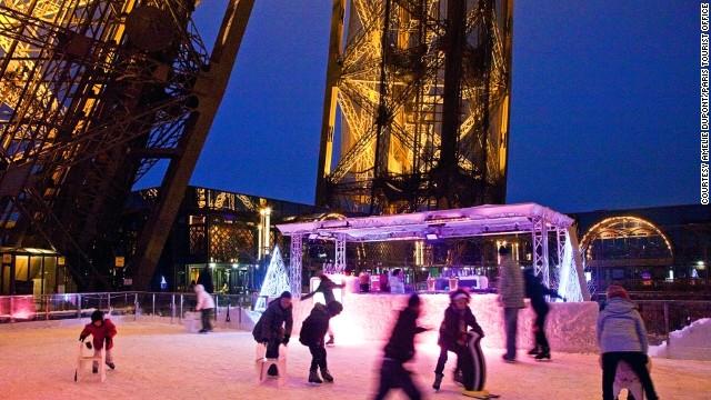 Каток Эйфелевой башни, Париж