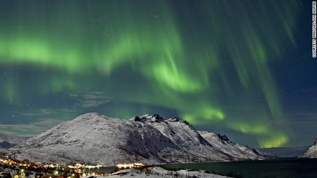 Северное сияние в Северной Норвегии