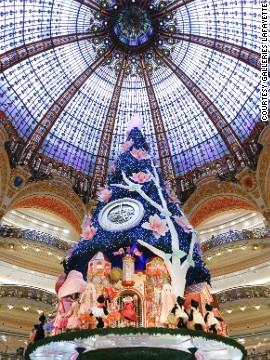 Елка в Галери Лафайет (Париж)