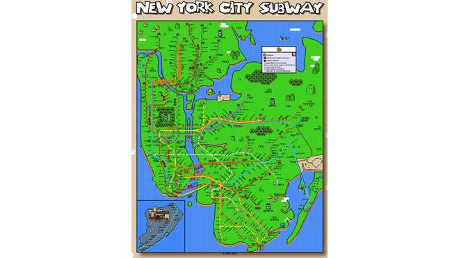 Тематическая карта метро от Супер Марио