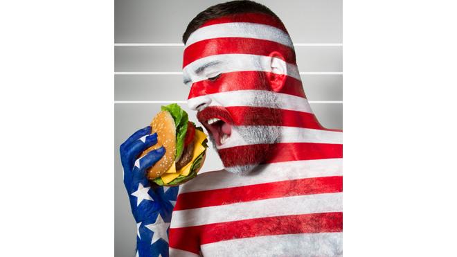 америка и гамбургер