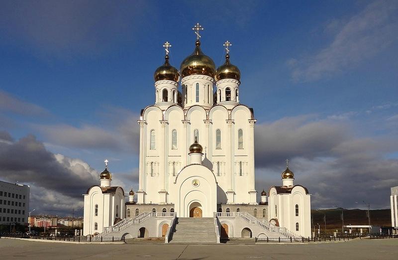Свято-Троицкий собор в магадане 1