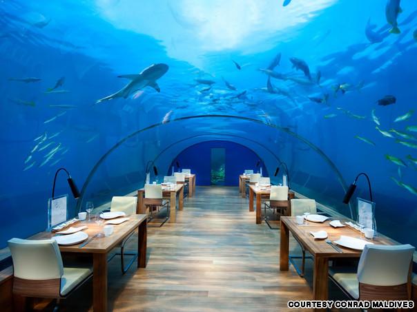 Подводный ресторан «Ithaa Undersea Restaurant» (Мальдивы)