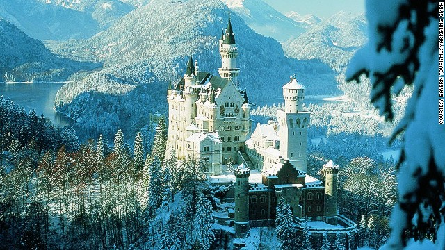 Замок-Нойшванштайн-Бавария-Германия