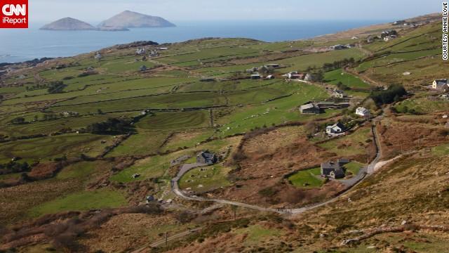 ирландия вид с самолета