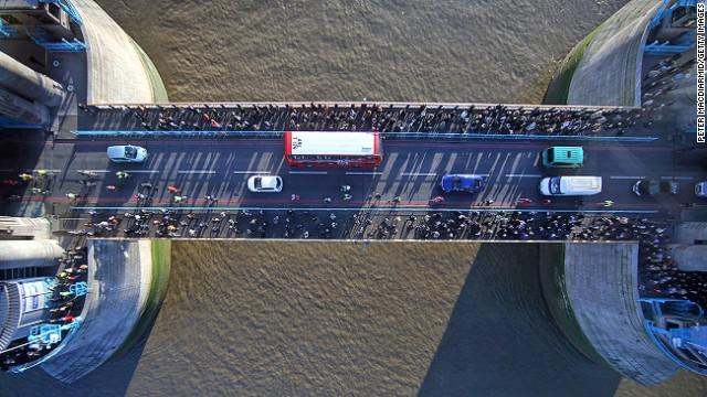 Тауэрский мост вид сверху