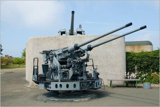 Владивостокская крепость-музей зенитка