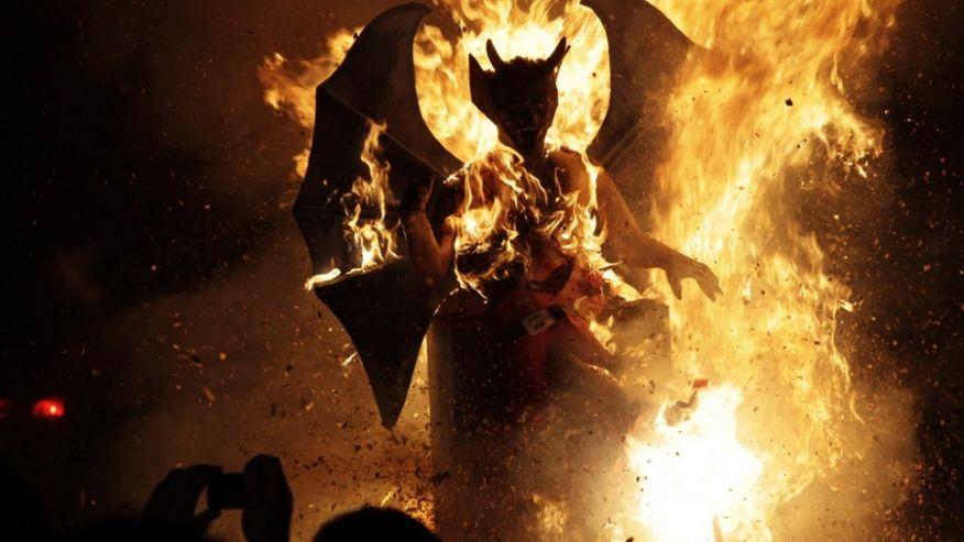 сжигание дьявола