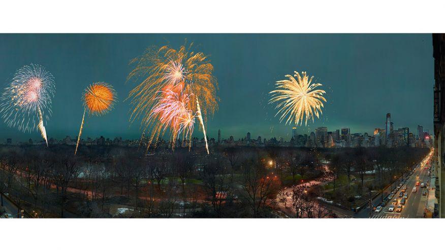 Новогодний фейерверк, Центральный парк, Манхэттен