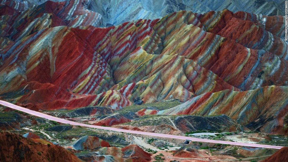 Скалы Данксия, Чжанье, Китай