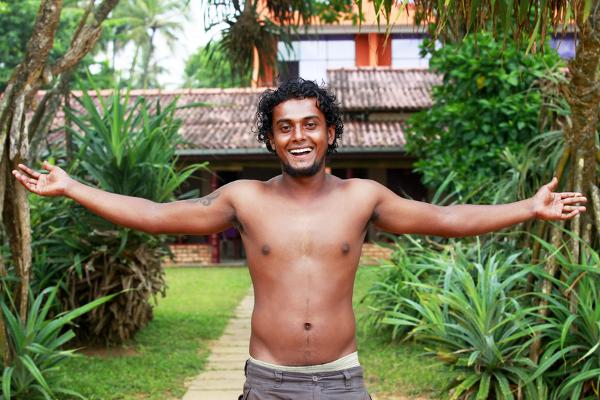 Portrait young smiling man. Sri Lanka