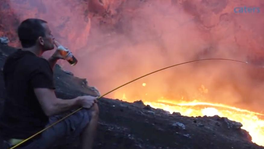 приготовление в жерле вулкана