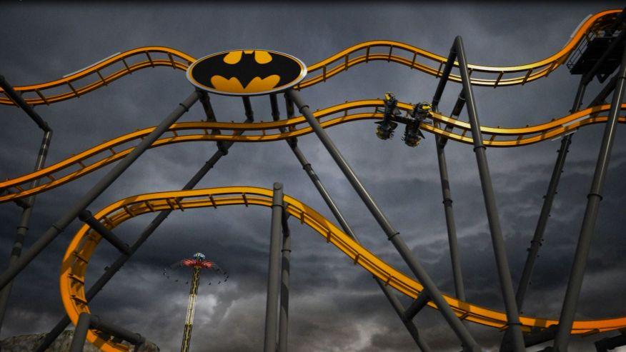 «Бэтмен» парк развлечений Six Flags Fiesta, Техас, Сан-Антонио