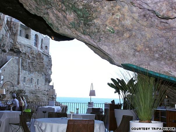 Ресторан Grotta Palazzese (Полиньяно-а-Маре, Италия)